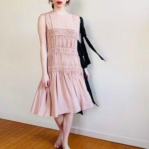 No. 21 Frilled Design Pink and Black Dress SZ 42